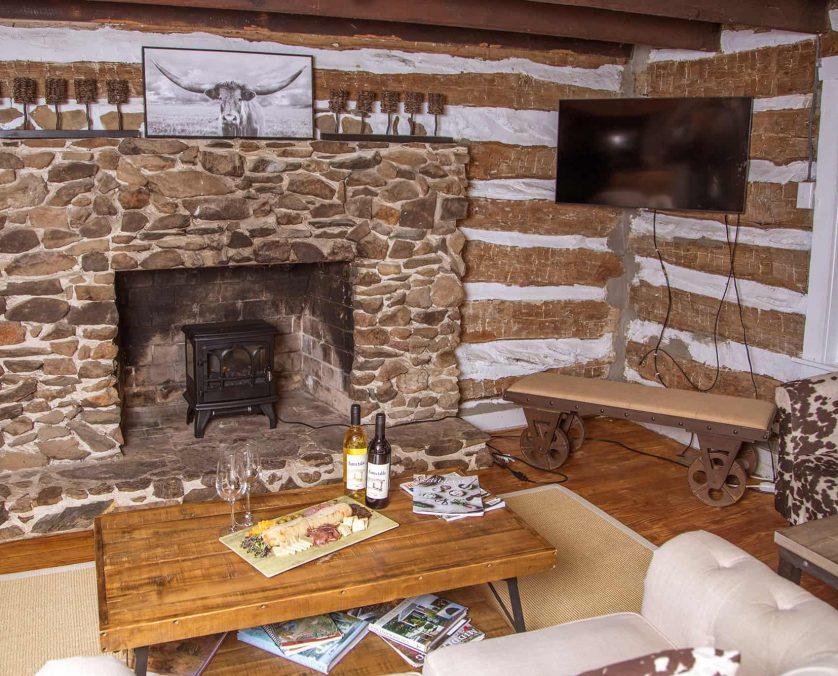 Blue Door Cottage Living Room