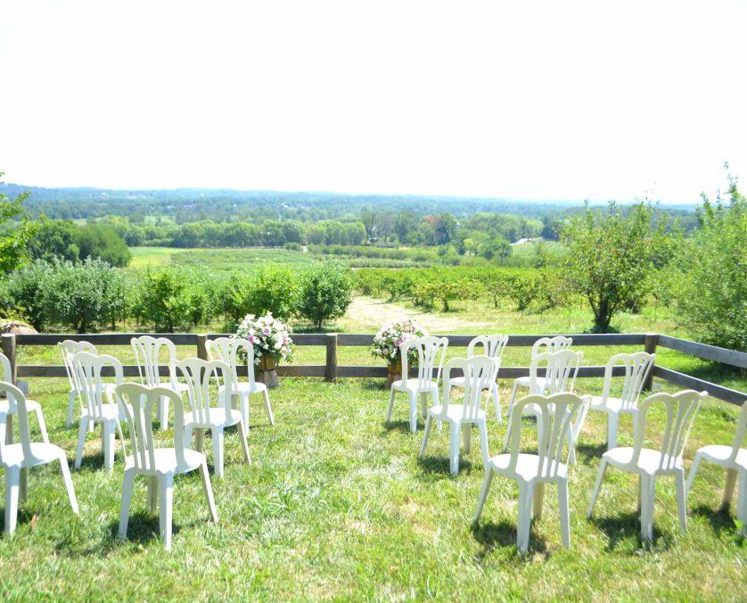 Stone Cottage Wedding Setup