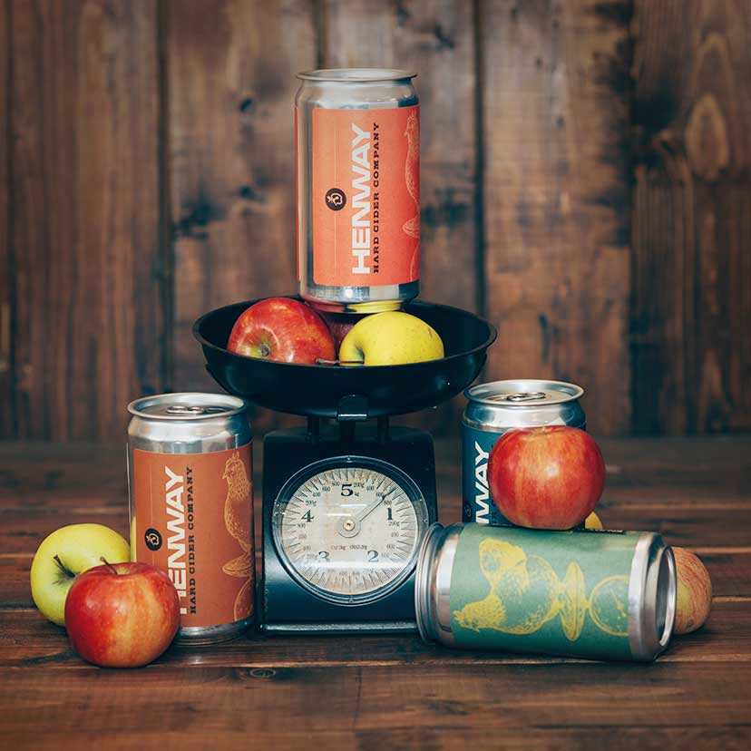 Henway Hard Cider in cans