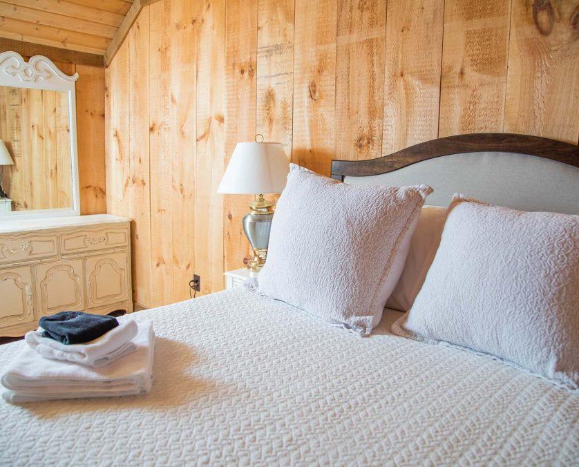 Upstairs Bedroom in Blue Door Cottage