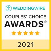 WeddingWire Couples' Choice Awards 5 star 2021